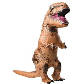 T-REX ティラノサウルス サウンド付き 恐竜 着ぐるみ 空気で膨らむ 衣装、コスチューム 大人男性用 コスプレ