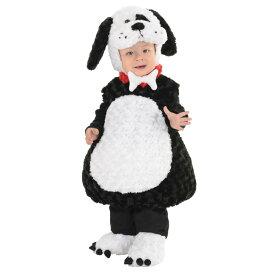犬 衣装、コスチューム 着ぐるみ 子供男性用 BLACK AND WHITE PUPPY TODDLER コスプレ