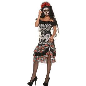 骸骨 衣装、コスチューム 大人女性用 QUEEN OF THE DEAD