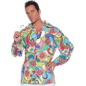 ヒッピー 衣装、コスチューム 大人男性用 60'S SHIRT ADULT コスプレ