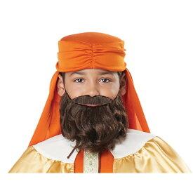 アラブの王様 付けひげ 子供用 GASPAR, WISE MAN (THREE KINGS)/CHI ORANGE/GOLD コスプレ