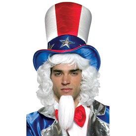 アンクルサム ハット 帽子 大人用 パーティーグッズ 星条旗 アメリカ コスプレ
