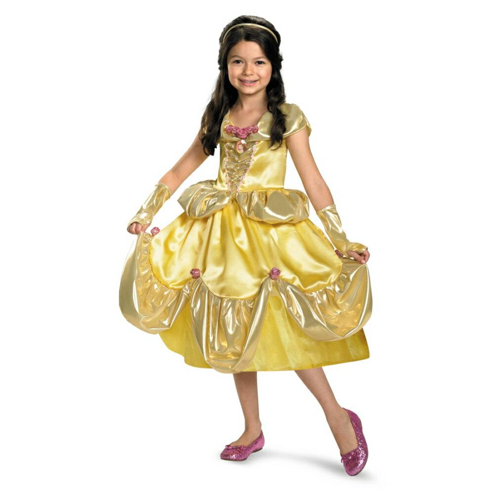ベル ドレス 衣装、コスチューム 美女と野獣 LAME DLX 子供女性用コスプレ衣装