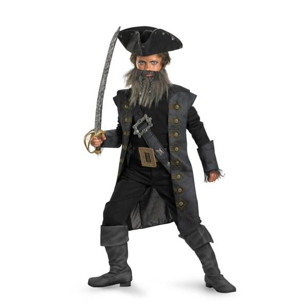 黒ひげ 衣装、コスチューム 子供男性用 DLX Blackbeard パイレーツ・オブ・カリビアン
