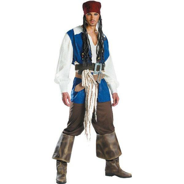 パイレーツ・オブ・カリビアン ジャック・スパロウ 衣装、コスチューム Quality 大人男性用
