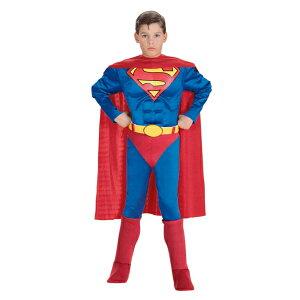 スーパーマン 衣装、コスチューム 子供男性用 マッスル コスプレ