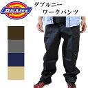ディッキーズ ワークパンツ ダブルニー 85283 メンズ また下32インチ メンズファッション ズボン パンツ 太目 丈夫 大きいサイズ 作業着 ワークウェア 作業服 dickies デッキーズ
