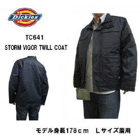 ディッキーズ Dickies ジャケット TC641 STORM VIGOR TWILL COAT ブラック ツイールコート ジャケット メンズファッション コート ジャケット 防寒 ブラック 中綿入り 防水 ブルゾン ジャンパー ナイロン メンズ dickies