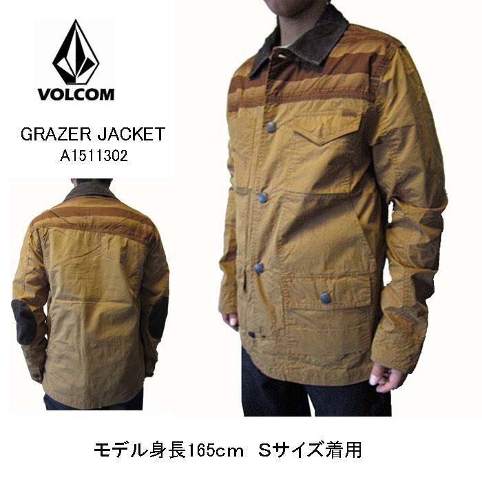 ボルコム VOLCOM メンズ ジャケット GRAZERジャケット ブラウン グラザージャケット アウター メンズ 全国送料無料
