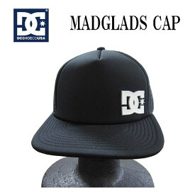 ディーシーシュー DCSHOE キャップ MADGLADS CAP メンズキャップ 帽子 メッシュ ブラック フリーサイズ スケター ストリート BMX