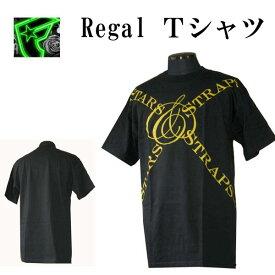 フェイマス スターズ アンド ストラップス Famous Stars & Straps メンズ 半袖Tシャツ Regal Tシャツ ブラック 全国送料無料