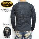 VANSONバンソンルーニーテューンズLTV-701長袖Tシャツブラック色トゥイーティーバードTweetyBirdロンTコラボ送料無料