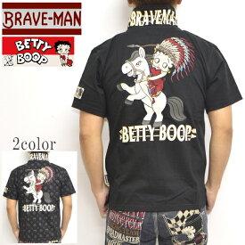 ブレイブマン ベティブープ BBB-2109 天竺半袖ポロシャツ BRAVE MAN BETTY BOOP トップス バイカー バイク メンズ 送料無料 新作
