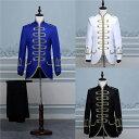 3色入荷 メンズ スーツ スーツセット 上下セット タキシード メンズ タキシード 演出服 華麗な王族服 王子様 …