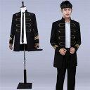 3色入荷 メンズ スーツ スーツセット 上下セット タキシード メンズ タキシード パンツ 演出服 華麗な王族服 …