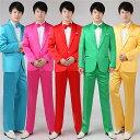 5色入荷 メンズ スーツ スーツセット 上下セット タキシード メンズ タキシードフォーマル 結婚式/パーティ/司…