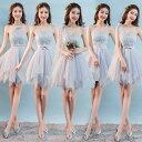 4デザイン 5色入荷 司会花嫁 ブライズメイド ミニドレス パーティードレス 写真撮影衣装 結婚式 披露宴ドレス …