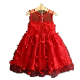 9f2ca185ad66b レッド 子供ドレス ノースリーブ ワンピース キッズ服 子供服 女の子 ワンピース 子ども キッズ 子供ワンピース キッズ