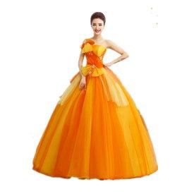 07bfd0b65c1e2 オレンジ カラードレス 二次会ドレス パーティードレス ウェディングドレス 演出舞台 発表会 演奏会用