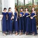 4色7タイプ入荷 レース パーティードレス ワンピース二次会演出司会ブライズメイドドレス結婚式お呼ばれ ロングド…