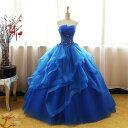 一部即納 ブルー カラードレス 二次会ドレス パーティードレス ウェディングドレス 演出舞台 発表会 演奏会用…