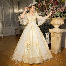 d580e0eb8abd4  フリーサイズ シャンパン 貴族 衣装 オーダーメイド可能 王族服 ジュリエット カラードレス 新劇演出