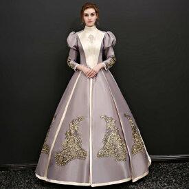 d0f5f23d48381  フリーサイズ グレー 貴族 衣装 オーダーメイド可能 王族服 ジュリエット カラードレス 新劇演出