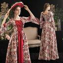 【フリーサイズ】レッド 貴族 衣装 オーダーメイド可能 王族服 ジュリエット カラードレス 新劇演出 現代劇演出 ヨー…