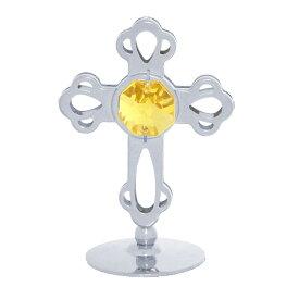 スワロフスキー SWAROVSKI/ シルバー クロス 置物 1/クリスタル 十字架 誕生日 プレゼント ギフト 女性 男性