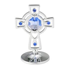 スワロフスキー SWAROVSKI/ シルバー クロス 置物 3/クリスタル 十字架 誕生日 プレゼント ギフト 女性 男性