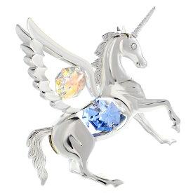 スワロフスキー SWAROVSKI 【 オーロラ ペガサス 置物 】クリスタル 午年 馬 縁起物 誕生日 プレゼント 女性 男性