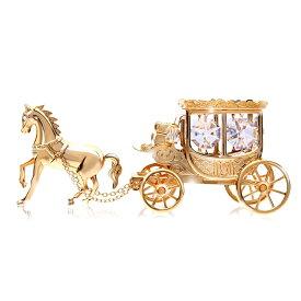 誕生日プレゼント 女性 男性 ギフトスワロフスキー クリスタル SWAROVSKI/王室の 馬車 置物 1