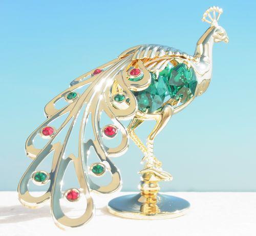 誕生日プレゼントスワロフスキー SWAROVSKI/見返り孔雀の置物1まとめ買いの絶好のチャンス!最安値挑戦中!
