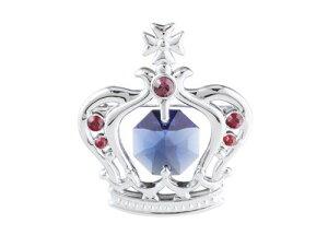 誕生日プレゼント 女性/スワロフスキー クリスタル ブローチ(王冠)