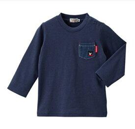 DOUBLE_B デニムポケット付き長袖Tシャツ(63-5201-780)