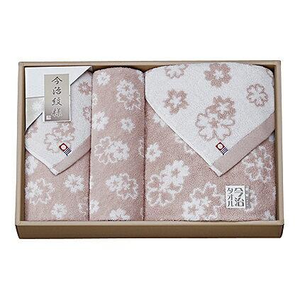 【送料無料】【ポイント2倍】imabari towel(今治タオル)おりざくらタオルセット(ピンク)【出産内祝い 内祝い お返し 御祝のお返し】【御中元 御歳暮 インスタ映え】