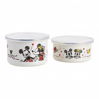 【送料込み】【送料無料】【ポイント2倍】Disney(ディズニー)ミッキー&ミニーホーロー容器セット【出産内祝い 内祝い 出産祝いのお返し 返礼に】【御中元 御歳暮 結婚祝い 結婚内祝い 御祝】