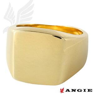 印台 24金コート 1ミクロン リング 鏡面仕上げ 指輪 メンズ シンプル ゴールド クリックポストは送料無料 印台リング メンズリング 男の指輪 ゆびわ 24kgp 24KGP【smtb-TD】【saitama】【楽