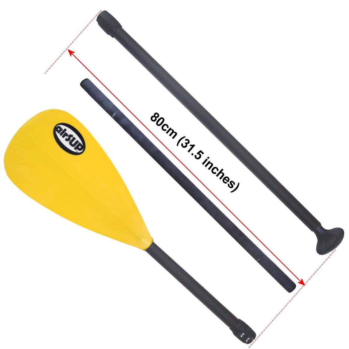 【airSUP】カーボン 3 ピース パドル / スタンドアップパドルボード SUP用 airSUP brand Plastic Yellow Blade