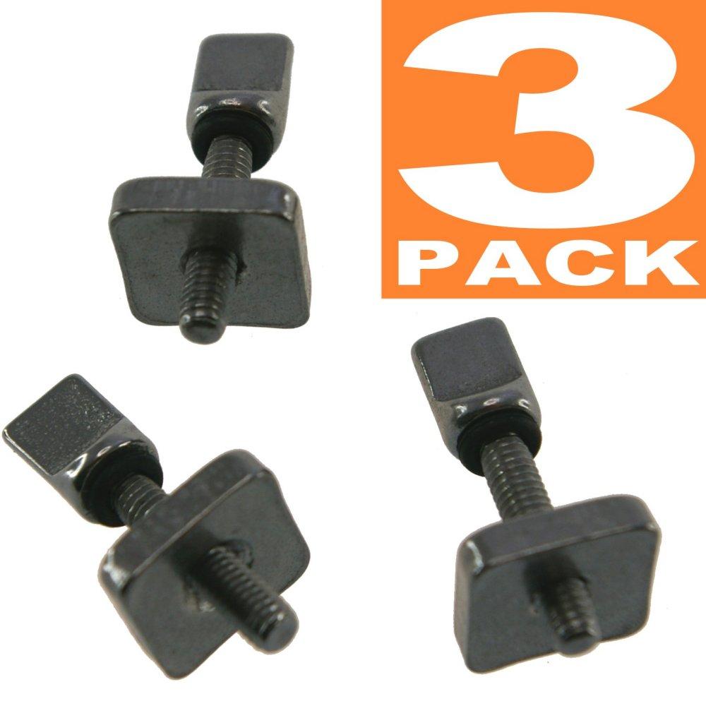 3個 セット ステンレス製 工具不要 フィン スクリュー ロングボード用 センターフィン / SUP / ロングボード / airSUP air 用 ボルト ねじ ボックス FIN用 固定ボルト サーフィン US box用 FU box用 AIR7 box用
