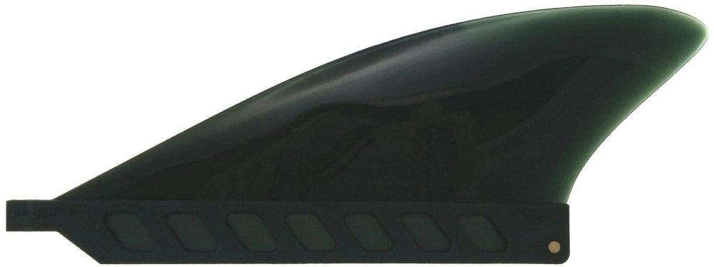 "【saruSURF 】[送料無料]センターフィン3""ブラック(ロングボード用/パドルボード/airSUP対応)ソフトフレックス使用"