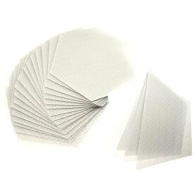 22枚 エコ グリップ eco 滑り止め クリアデッキ 六角形 6角形のフィルム テールデッキ ノーズ ロングボード用 SUP用 NO ワックス 透明