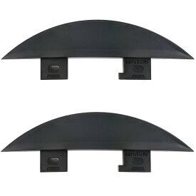25mm フィン スタビライザー ショートボード ロングボード リバーSUP、川下りとサーフ FCS互換 2枚 Fin
