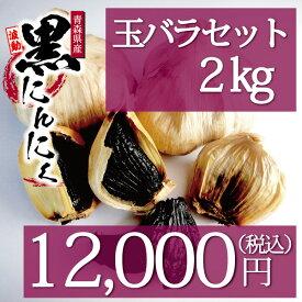 黒にんにく 玉バラ2kgセット 波動