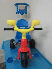 【中古】 FEBER 三輪車 トライク スペイン製      3段階調節 手押しハンドル付き 手押し車      足こぎ 外遊び 子供用 キッズ