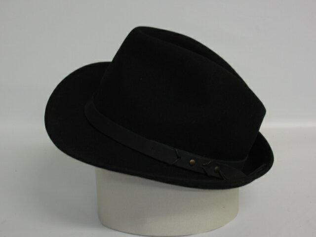 【中古】 FACADE GREEN 中折れ帽 ブラック made In Italy GREEN LABEL RELAXING      グリーンレーベルリラクシング 100%wool 中折れハット 中折れ帽子 ソフトハット      ユナイテッドアローズ  帽子 ソフト帽 レディース帽子 婦人帽