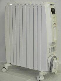 【中古】 デロンギ オイルヒーター DDQ0915 〜10畳      DeLonghi ドラゴンデジタル リモコン付き ホワイト      ヒーター フィン9枚 ストーブ タイマー付き
