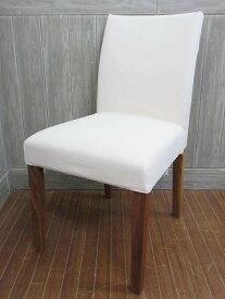 【中古】 無印良品 チェア 生成 カバー付き アイボリー     良品計画 MUJI クッションチェア 椅子 イス 木脚     シンプル ナチュラル ダイニング パーソナル 一人掛け