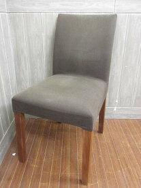 【中古】 無印良品 チェア 布張り カバー付き グレー     良品計画 MUJI クッションチェア 椅子 イス 木脚     シンプル ナチュラル ダイニング パーソナル 一人掛け