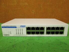 【中古】Logitec LAN-GSW16P/HGW 1000BASE-T 16ポート ギガビット スイッチング・ハブ チェック済み メタル筐体 ファンレス[B8665]